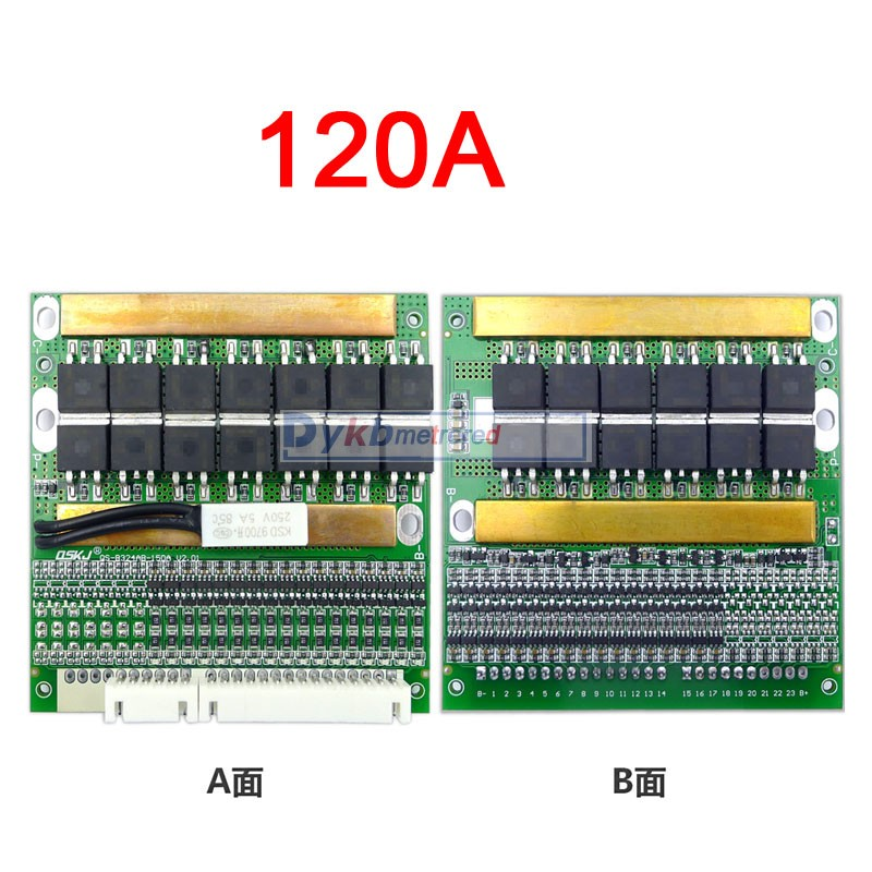 Image 5 - DYKB 6S 17S 50A 80A 120A w/Balance BMS LiFePO4 Li ion lithium battery protection Board 24V 36V 48V 60V 7S 8S 10S 12S 13S 14S 16SBattery Accessories   - AliExpress