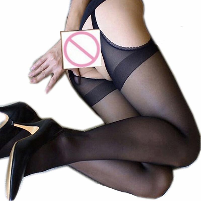 Strumpfhosen Frauen Mode Strumpfhosen Sexy Strümpfe Geschnitzte leere Strümpfe Vier Strümpfe mit offenem Schritt Kostenlose Strumpfhosen für Frauen