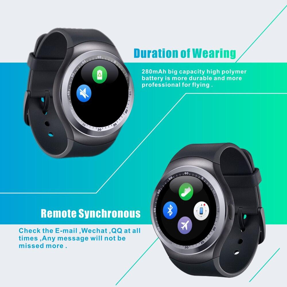 """1 54 """"Bluetooth Smart Uhr Android IOS 2G smartphone uhr Unterstützung TF sim karte fitness uhr Schrittzähler Nachricht push smartwatch in 1 54 """"Bluetooth"""