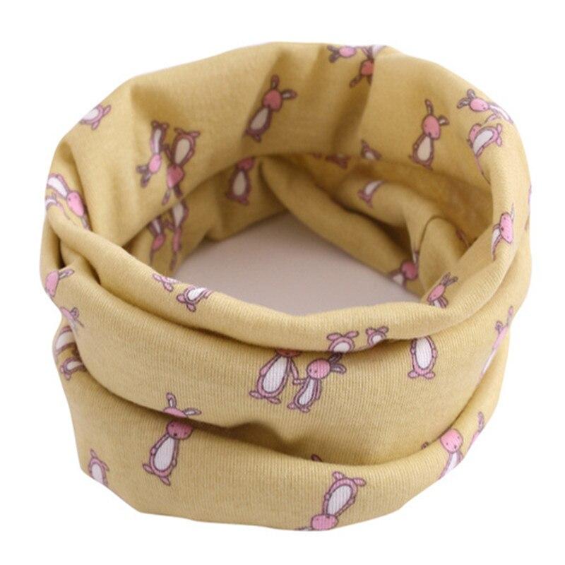 Весенний детский хлопковый шарф, теплый шарф для маленьких детей, осенне-зимние шарфы с героями мультфильмов для мальчиков и девочек, детский воротник с круглым вырезом, волшебный шейный платок - Цвет: 19