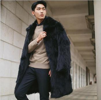 Fashion black autumn faux mink leather jacket mens winter thicken warm fur leather coat men casual jackets jaqueta de couro
