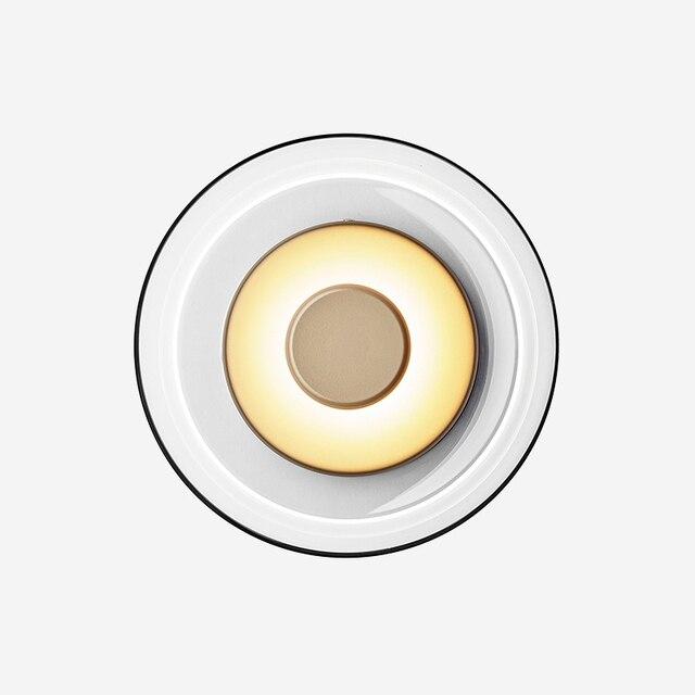 Pós moderna loft vidro conduziu a lâmpada de parede itália designer tigela quarto cabeceira sala jantar estudo decro luminárias frete grátis