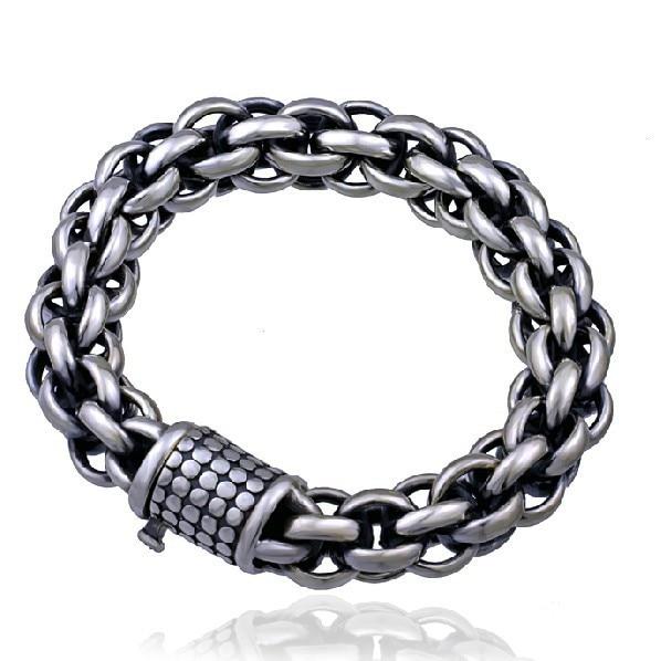 Handmade Thailand 925 Siilver Chain Bracelet Vintage Sterling Silver Man Bracelet Pure Silver Bracelet