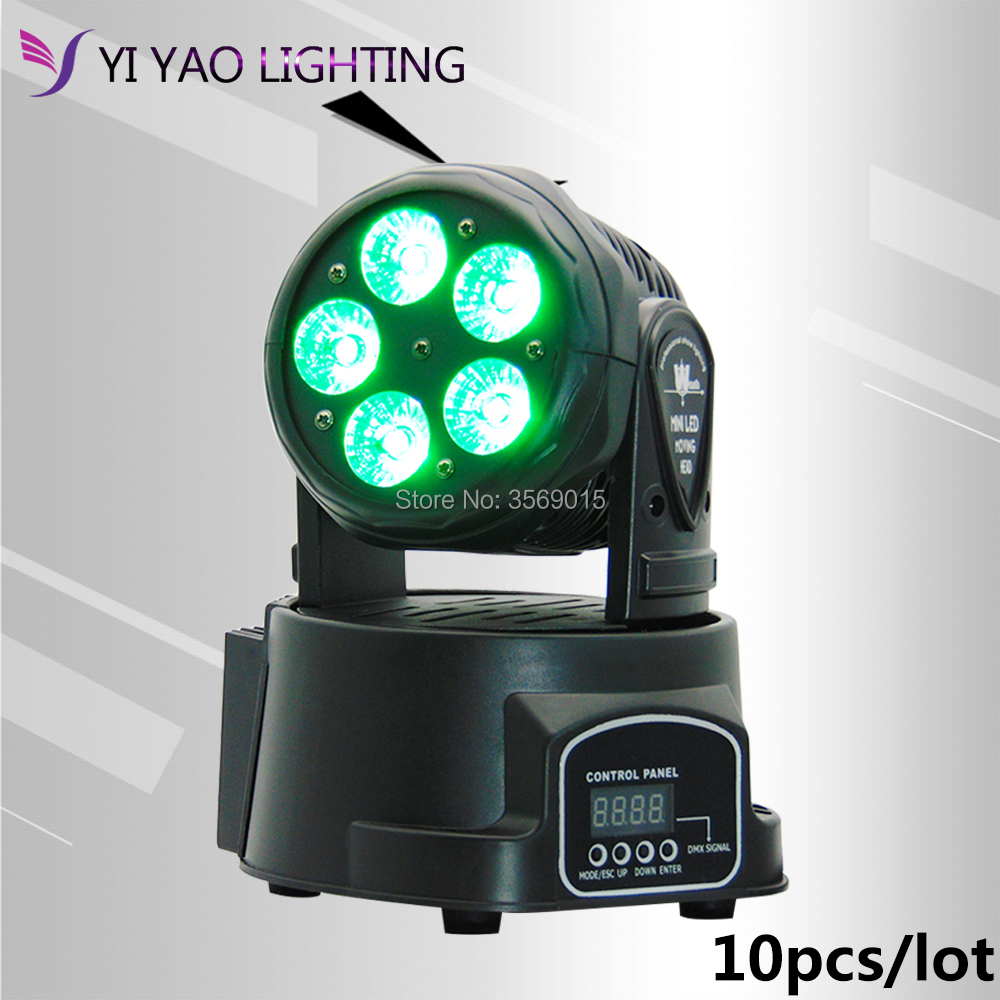 10pcs/lot LED Moving Head Light With 5x15W Dj Equipment Wash Beam LED RGBWA+UV DMX with Show KTV Disco DJ Party for Stage Light 2pcs lot mini led wash moving head 4x18w rgbwa uv dmx stage lights business high power with professional for party ktv disco dj