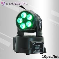 10pcs/lot LED Moving Head Light With 5x15W Dj Equipment Wash Beam LED RGBWA+UV DMX with Show KTV Disco DJ Party for Stage Light