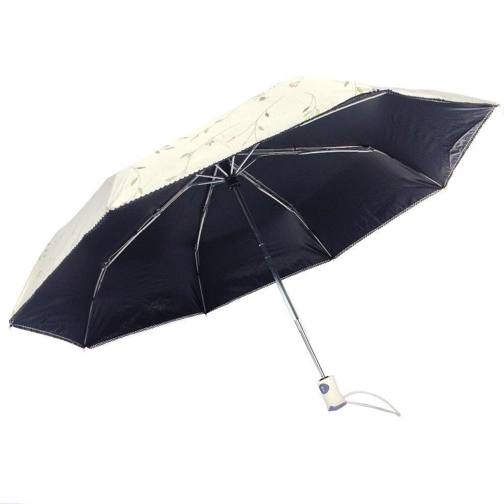 джесси камм анти-уф складной солнце компактный женщины женщина дамы леди ветрозащитный дождь моды цветок полностью авто открыть закрыть зонтики