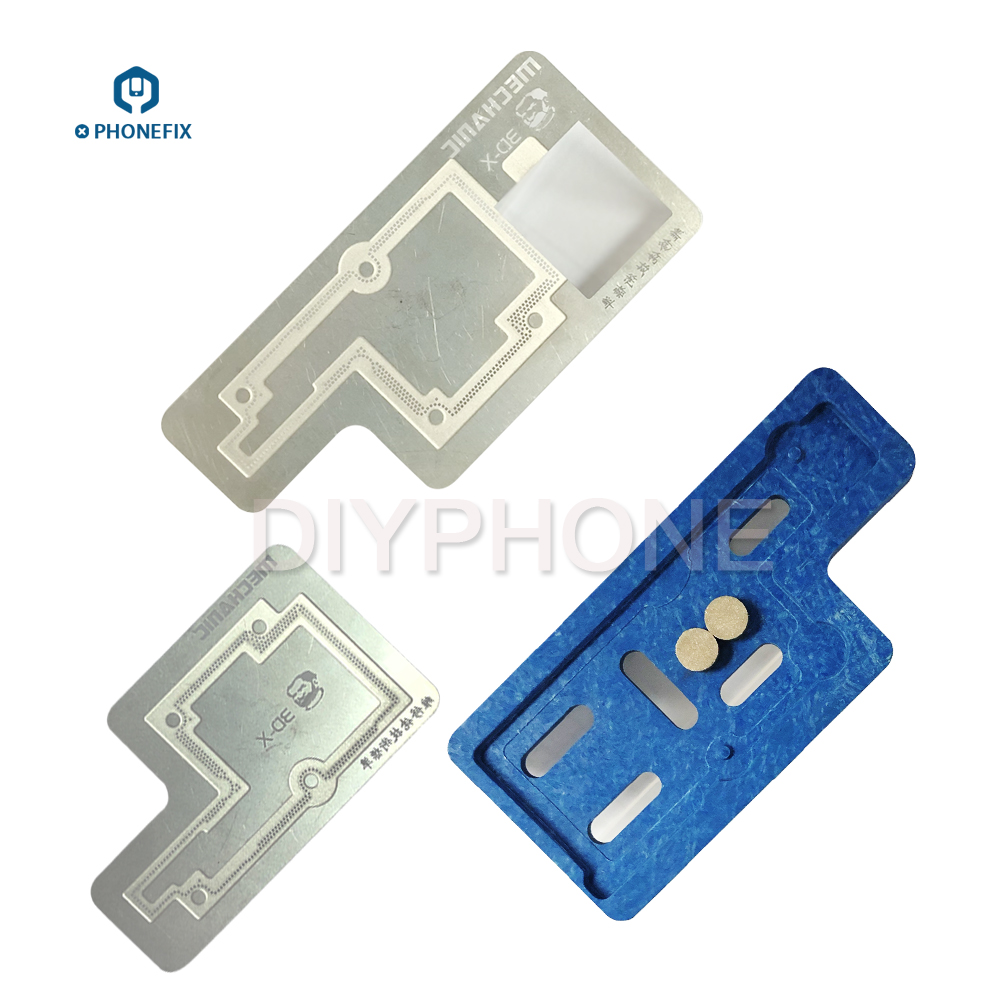 Mechanic Groove 3D BGA Reballing Stencil Template for iPhone X Middle layer font b motherboard b