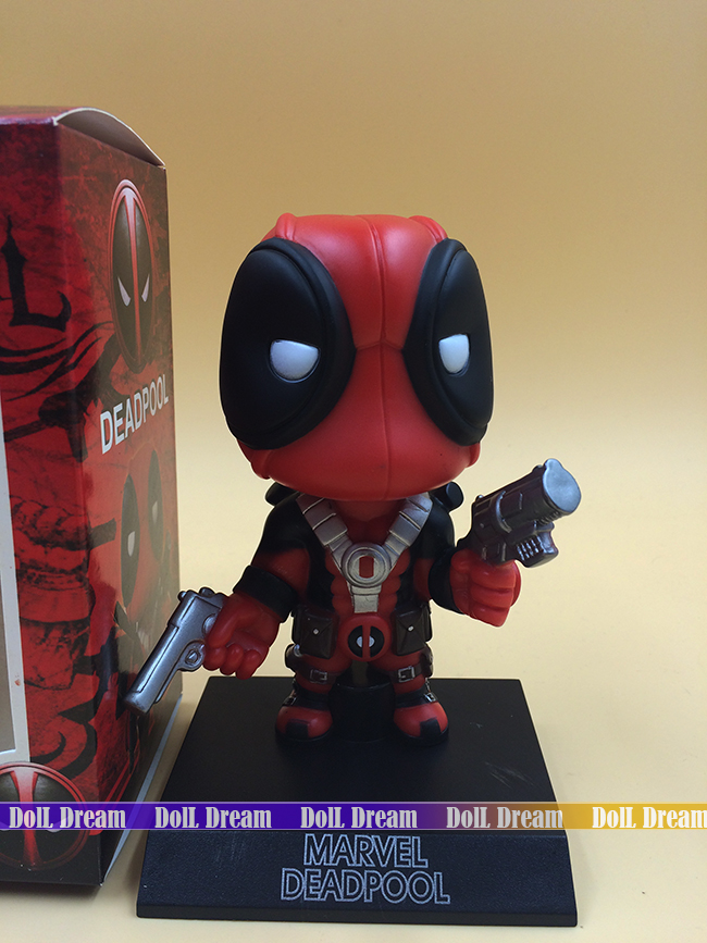 Q Version Marvel X-Man Spiderman Deadpool Bobble Head Figure Car Accessories Toy