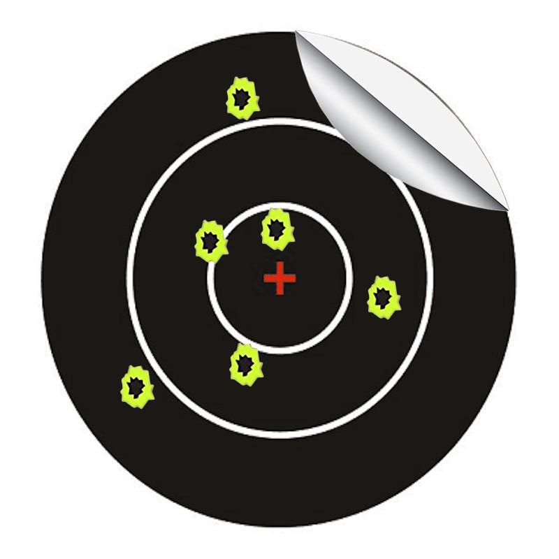 Splatter Blossom Target Stickers, Pattern Central Cross, Diameter 3