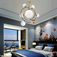 Living Room Pendant Light Indoor Children Bedroom Decoration Lamp The Wandering Earth Pendant Lamp With LED G9 Bulbs Iron+Glass