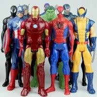 30 см Фигурки Мстителей Marvel, Железный человек, Человек-паук, Капитан Америка, Тор, фигурки, куклы, игрушки для детей, подарки, без коробки
