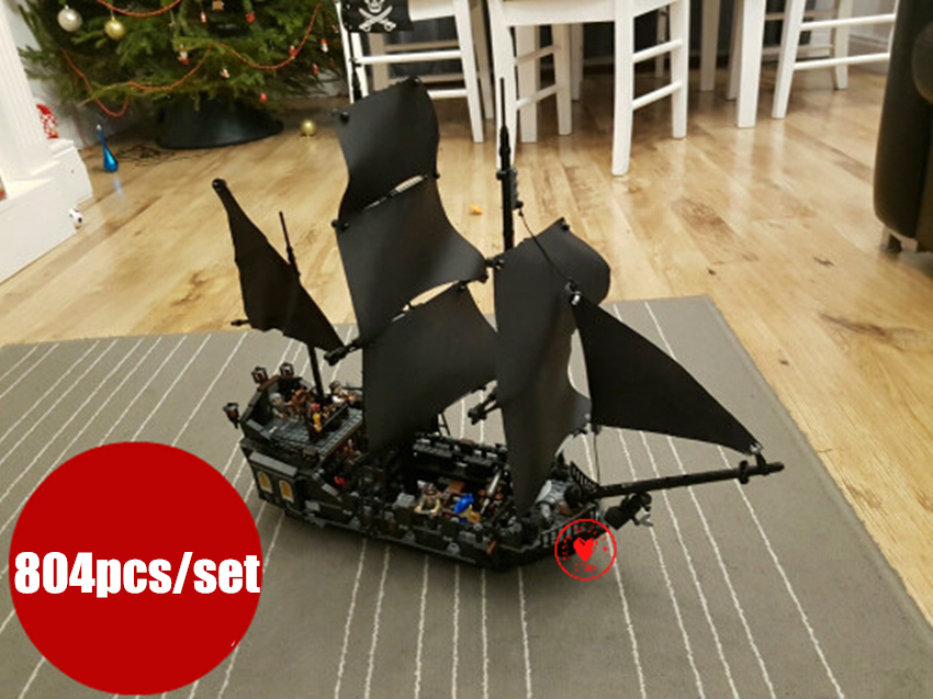 New the Black Pearl Ship fit legoings Pirate of the Caribbean figures ship city model building block bricks 4184 Toys gift kid 780pcs black pearl caribbean pirate ship model building block toys enlighten 308 educational gift for children compatible legoe