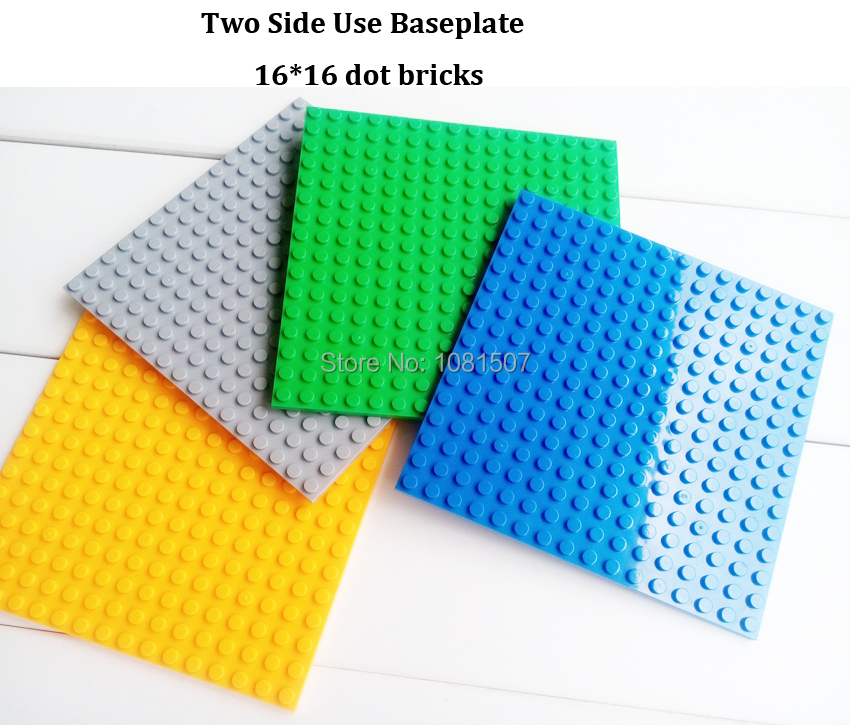 4pcslot with 4 colors Choice Baseplate Samll Particle dot brick Base plate toys with 16*16 dot bricks of Size 4.96*4.96 inches