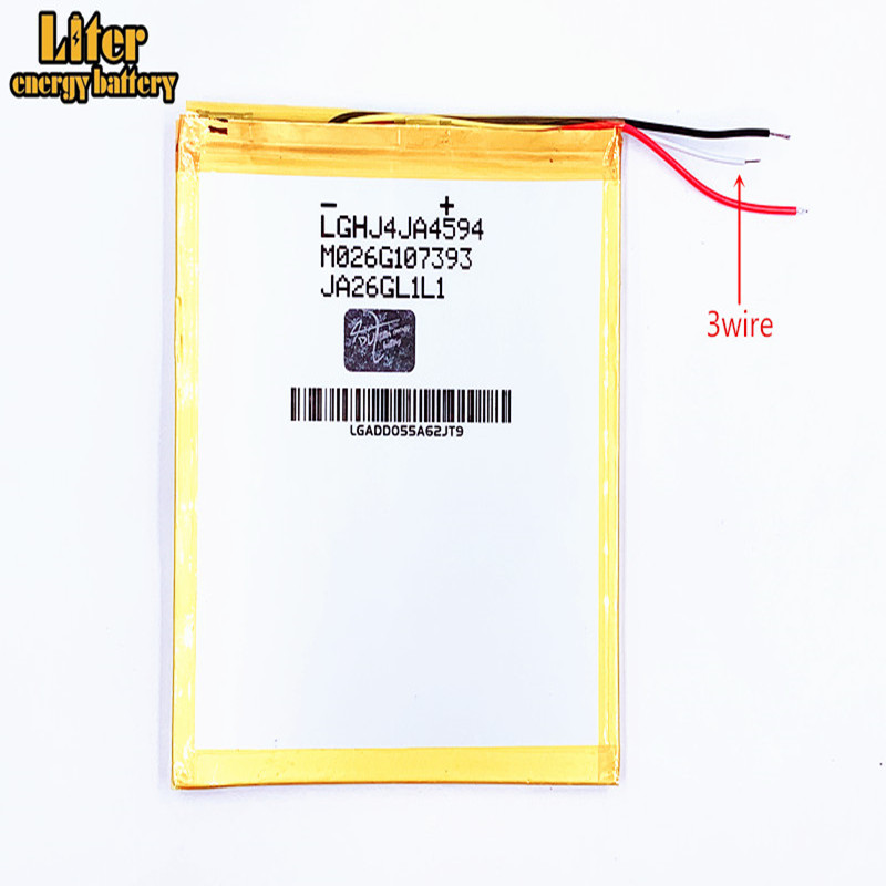 3wire Tablet PC li-po <font><b>battery</b></font> <font><b>6000mAH</b></font>,4593105 <font><b>3.7V</b></font>,X80H X80HD X80Plus X80Pro A80HD A80se P85HD P85A T20,VI40, A86 Dual Core P85 image