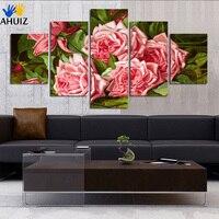 Moderne kunst ist handgemalte rosa stieg feine leinwand malerei mode wohnzimmer schlafzimmer haushaltsverzierung wand malerei FA115
