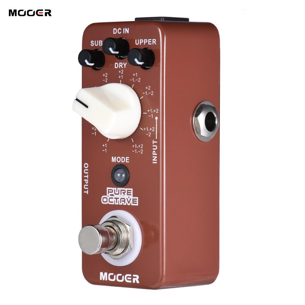 buy mooer pure octave guitar pedal mini octave guitar effect pedal 11 octave. Black Bedroom Furniture Sets. Home Design Ideas