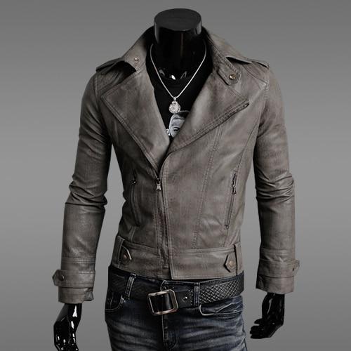 Men coat casual outerwear SALE! Mens slim PU leather jacket men fashion motorcycle models Leather 4 colors size M-XXL COAT-7918