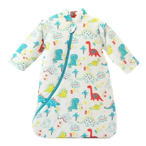 Unisex Baby Sleepsack Wearable Blanket Cotton Sleeping Bag Long Sleeve Nest Nightgowns Thickened Winter Dinosaur/3.5 Tog