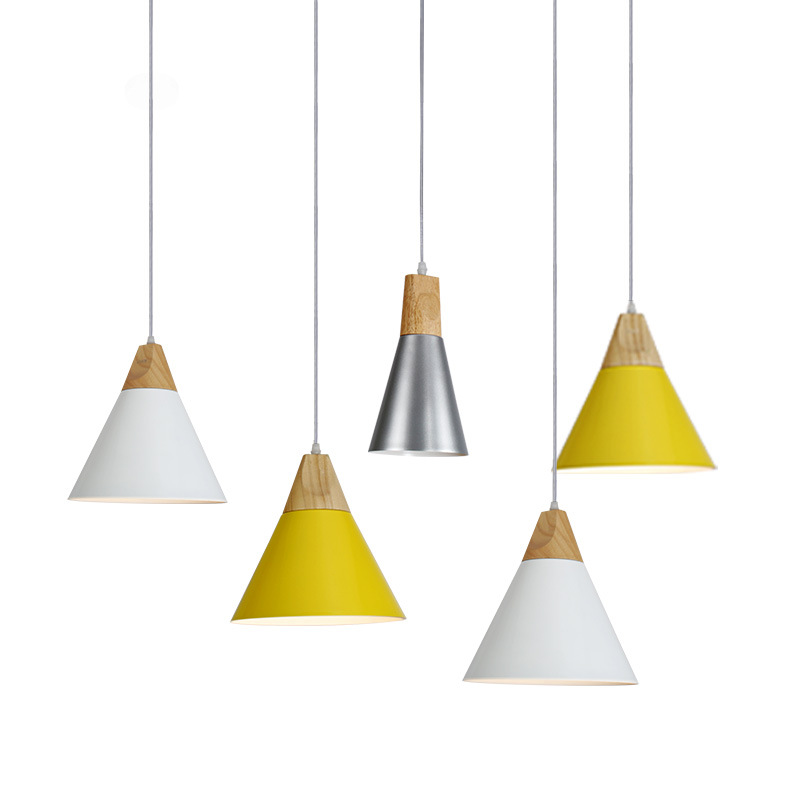 Nordic style modern minimalist bar hanger lamp bedroom coffee shop restaurant originality small chandelier three head