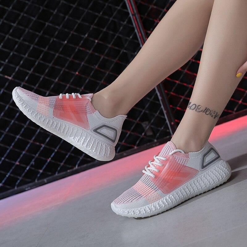 2019Women's Mesh Flat Socks Shoes Patchwork Slip-On Casual Womans Walking Sneakers Loafers Soft Breathable Joker Shoes Yasilaiya