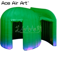 Customised Green outside inflatable dome igloo photo booth tent,photo podium/kiosk foto 3D booth made in China