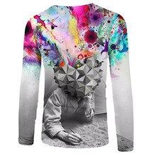 New Design 3D Fashion Print Brain Hole Wide Open font b Men s b font font