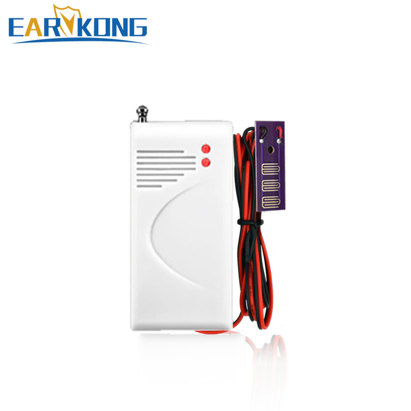 Wireless water leak detector 433MHz for home alarm system , water sensor alarm wireless vibration break breakage glass sensor detector 433mhz for alarm system