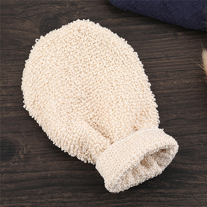 1Pair Shower Gloves Exfoliating Wash Skin Spa Bath Gloves Natural Bamboo Fiber Bath Exfoliating Scrubber Washcloths (6)