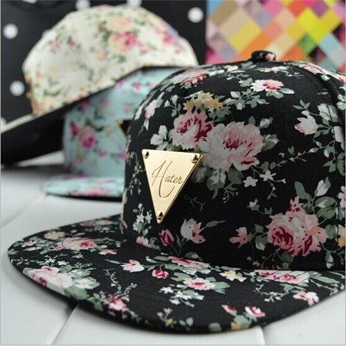 c34a074a07b3 € 6.15 |Nueva mujeres hombres moda hueso Hiphop estampado de flores gorras  de béisbol Gorra Rap Chapeu sombreros del Snapback Hip Hop regrese ...