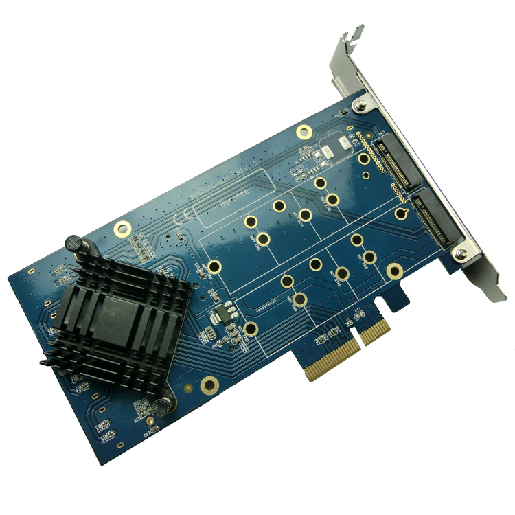 где купить ITGO PCI Express to 4 Ports NGFF M.2 Key-B slot adapter raid card  pcie x4 raid0 raid1 дешево