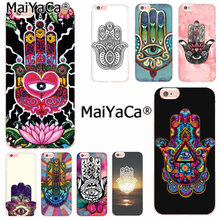 Maiyaca Hamsa Hand Amulet Psychedelische Telefoon Case Cover Voor Iphone Se 2020 11 Pro 8 7 66S Plus X 10 5S Se Xr Xs Xs Max(China)