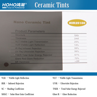 25% VLT 5X100ft Anti Scratch Ceramic Solar window film quality warranty