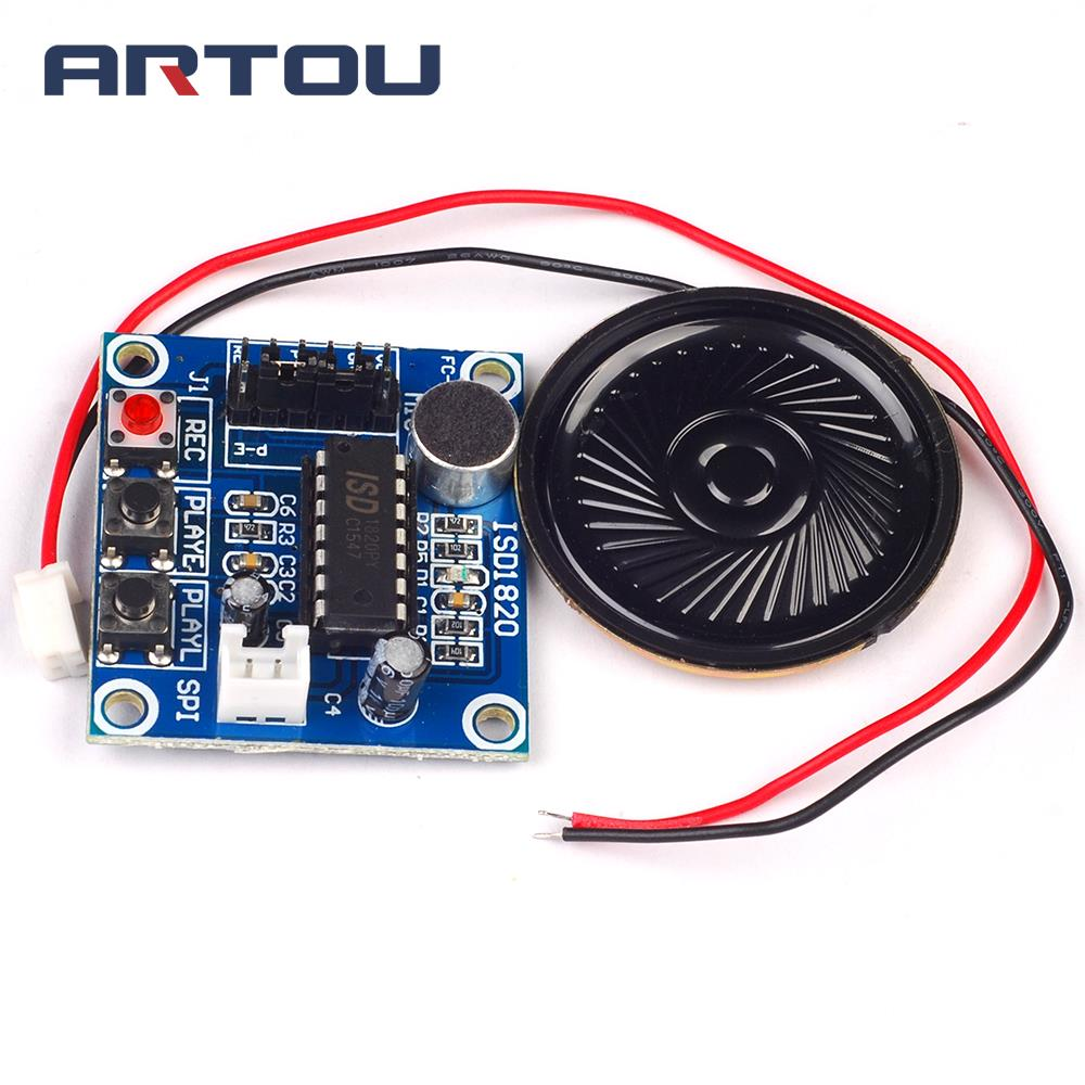 1pcs Isd1820 Sound Voice Recording Playback Module With Mic Recorder And Circuit Audio Microphone Ho In Integrated Circuits From Electronic Components Supplies On