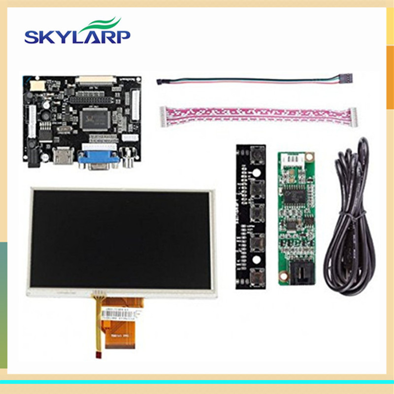 Skylarpu 7''inch LCD Display Touch Screen TFT Monitor For AT070TN90 with HDMI VGA Input Driver Board Controller for Raspberry Pi raspberry pi 3 model b 7 inch lcd touch screen display tft monitor at070tn90 with touchscreen kit hdmi vga input driver board
