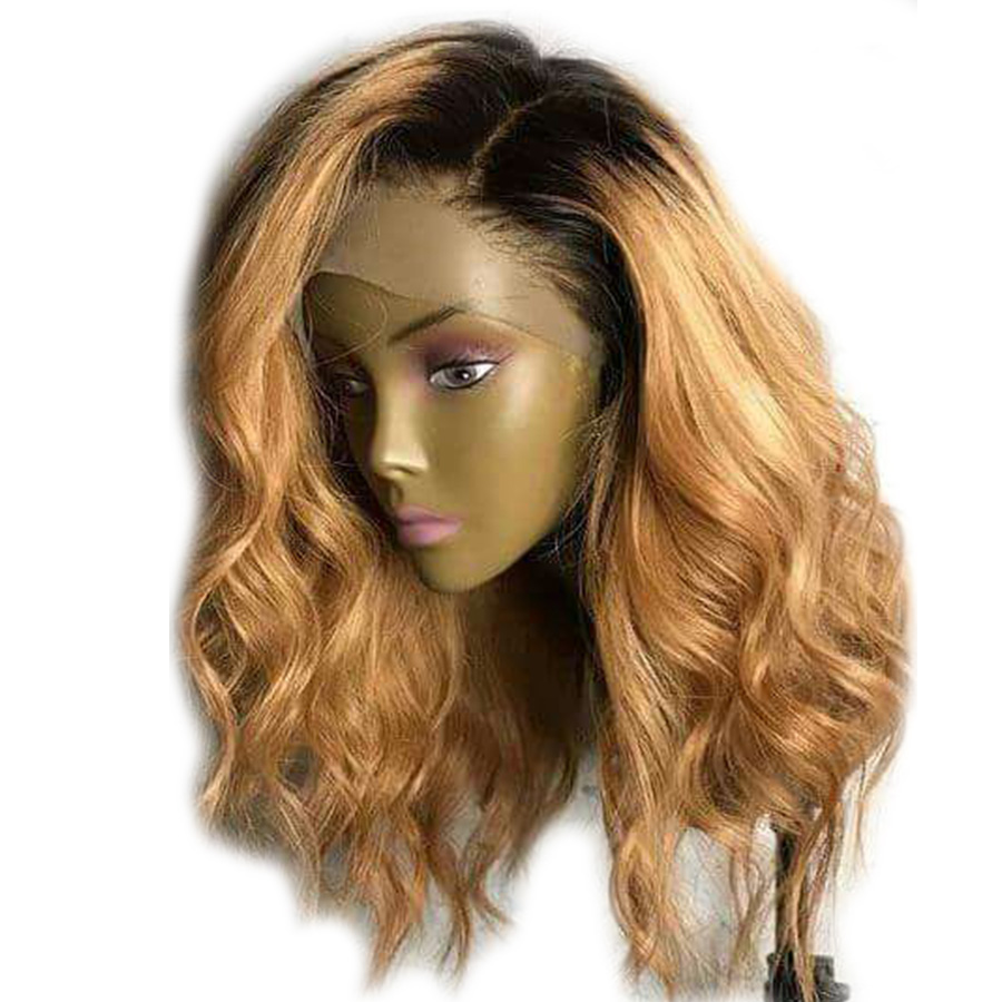 1B 27 Ombre Hair Shoulder Length Body Wave 13 4 Lace Front Human Hair Wigs