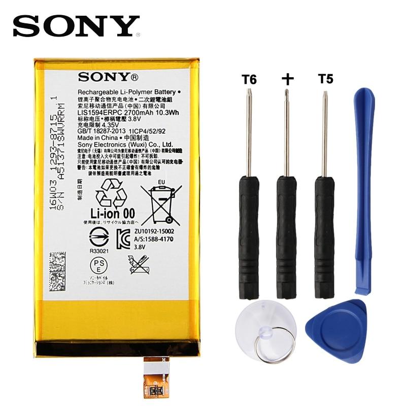 Original Replacement Sony Battery For SONY Xperia Z5C Z5 Mini E5823 Z5 Compact LIS1594ERPC Genuine Phone Battery 2700mAh