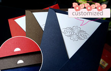 50pcs/lot High quantity customized business invitation card Red/coffer grey/Dark blue party/The opening ceremony/Cocktail party