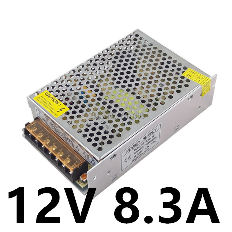 20PCS Best quality 12V 24V 8.3A 4.2A 100W Switching Power Supply Driver for LED Strip AC 100-240V Input to DC 12V 24V 52pcs best quality 12v 24v 8 5a 4 2a 100w switching power supply driver for led strip ac 100 240v input to dc 12v 24v