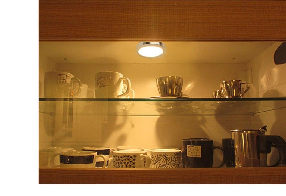 12PCS 12V LED Cabinet Light Round Aluminum Puck  Lamp Under kitchen Cupboard Shelf  Cabinet Lighting Light Fixture Indoor Lamps (17)