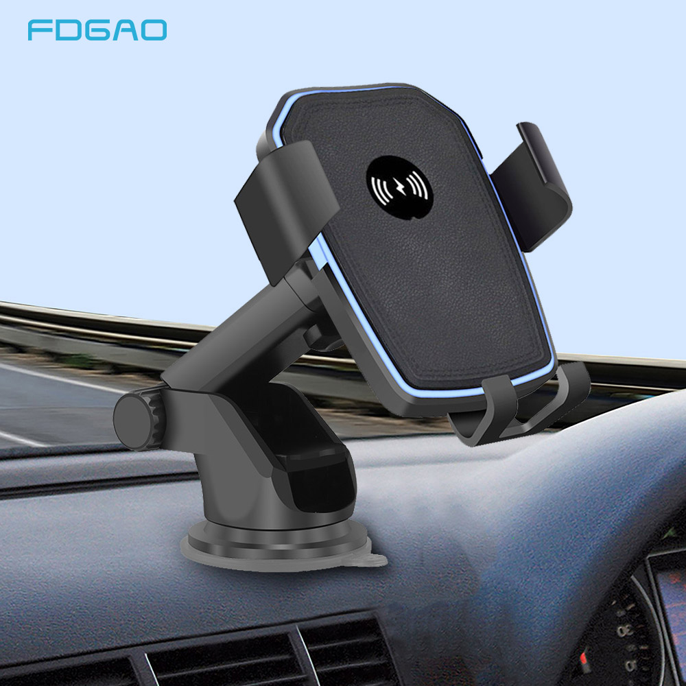 FDGAO 10W Qi Wireless Car Charger Phone Charging Holder For iPhone Xs Max Xr 8 Phone Car Mount Wireless Charging For Samsung S9 image