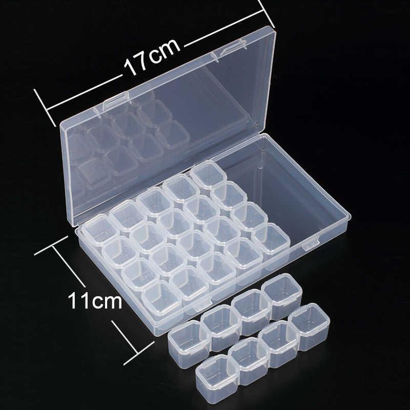 28/8 Slots Diamant Borduurwerk Schilderij accessoires dozen Case Kruissteek Hulpmiddel Plastic Opbergdoos Strass Houden KBL