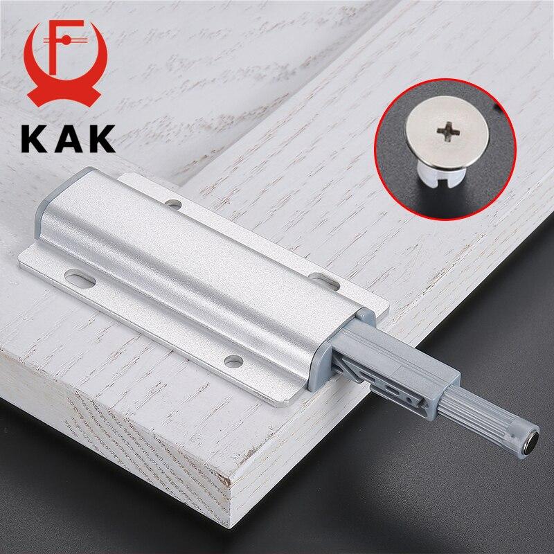 Original Kak Aluminium Legierung Push Zu Öffnen Schrank Fänge Tür Stoppt Magnet Touch Stop Küche Unsichtbare Schrank Zieht Schrank Hardware