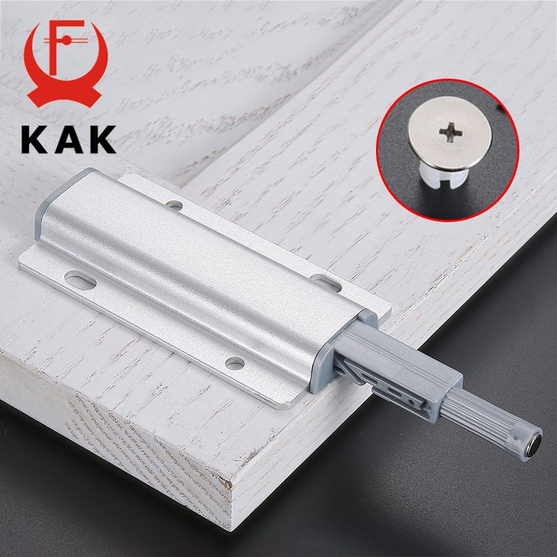KAK Aluminum Alloy Push to Open Cabinet Catches Door Stops Magnetic Touch Stop Kitchen Invisible Cabinet Pulls Cabinet HardwareKAK Aluminum Alloy Push to Open Cabinet Catches Door Stops Magnetic Touch Stop Kitchen Invisible Cabinet Pulls Cabinet Hardware