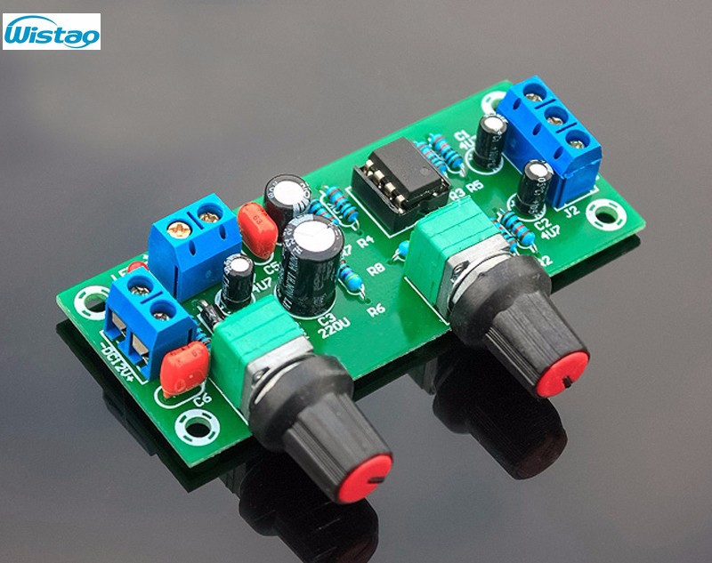 IWISTAO Low-pass Filter Finished Board Subwoofer Crossover Board Deep Bass Single Supply DC10-24V for 2.1 System Free Shipping