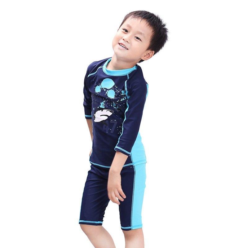 2016 New Cute Swimming Suit Boys Bathing Professional Sports UV Swimwear Children Boy Swim Trunks 2T 3T - U-SEE MALL store