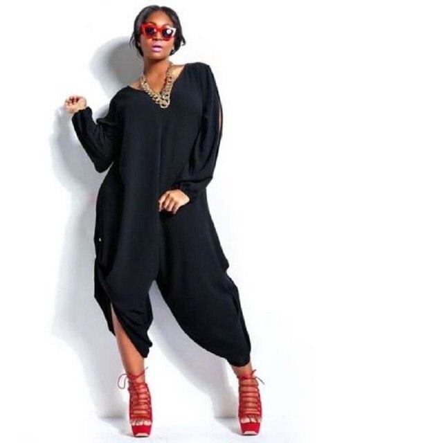 900aba58f60 Plus Size Sexy Women Summer Loose Chiffon Romper Baggy Harem Jumpsuit  Playsuit