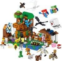 1007pcs World Tree House Cartoon Dinosaur Figure Compatible Legoingly MOC Building Blocks Creative Sets Models Educational Toys