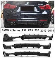 Carbon Fiber Rear Lip Spoiler Diffuser For BMW 4 Series F32 Coupe F33 Convertible F36 Gran Coupe 2013 2019 Bumper Modification