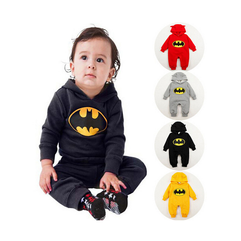 2018 Children Baby Superhero Costume Spiderman Batman Superman jumpsuit Boys Birthday Party Children Superhero Batman Clothing