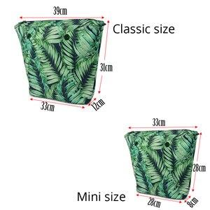 Image 4 - Huntfun צבעוני אריג בד עמיד למים ציפוי פנימי הכנס רוכסן כיס עבור קלאסי מיני Obag בכיר פנימי כיס עבור O תיק